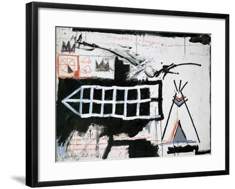 Untitled (Samo, New York)-Jean-Michel Basquiat-Framed Art Print