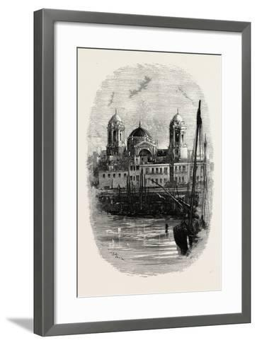 Cathedral of Cadiz, from the Harbour, Spain--Framed Art Print