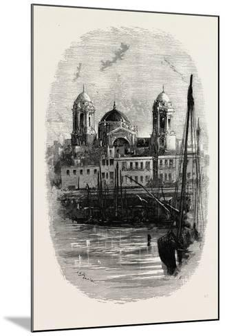 Cathedral of Cadiz, from the Harbour, Spain--Mounted Giclee Print
