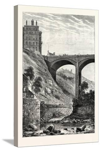 Edinburgh: Randolph Cliff and Dean Bridge--Stretched Canvas Print
