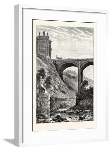 Edinburgh: Randolph Cliff and Dean Bridge--Framed Art Print