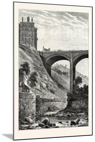 Edinburgh: Randolph Cliff and Dean Bridge--Mounted Giclee Print