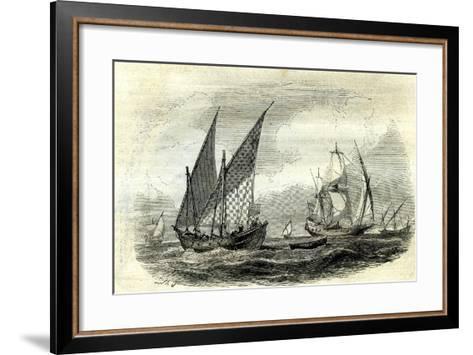 Mediterranean Ships, 17th Century, UK--Framed Art Print