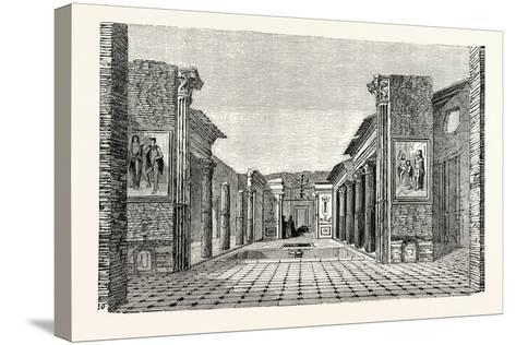 Peristyle of the House of the Questor--Stretched Canvas Print