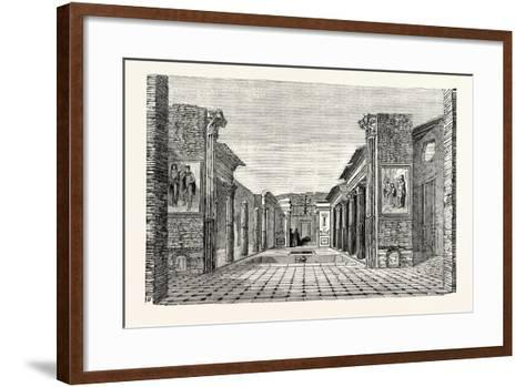 Peristyle of the House of the Questor--Framed Art Print