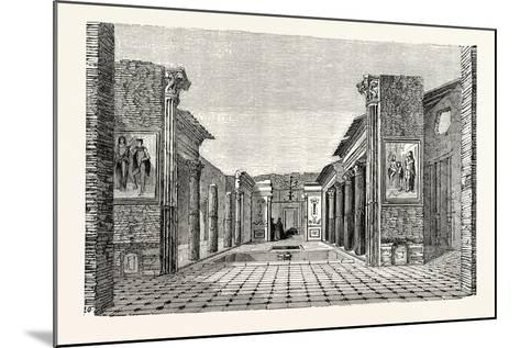 Peristyle of the House of the Questor--Mounted Giclee Print
