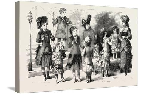 Children's Summer Costumes, 1882, Fashion--Stretched Canvas Print