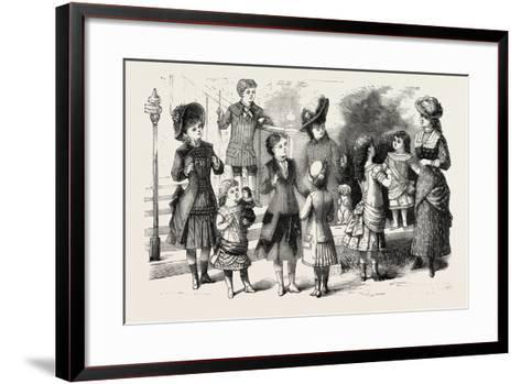 Children's Summer Costumes, 1882, Fashion--Framed Art Print