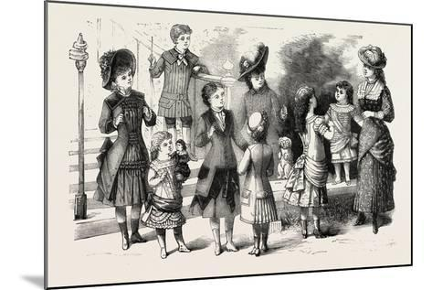 Children's Summer Costumes, 1882, Fashion--Mounted Giclee Print
