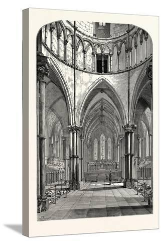 Interior of the Temple Church 1870 London--Stretched Canvas Print