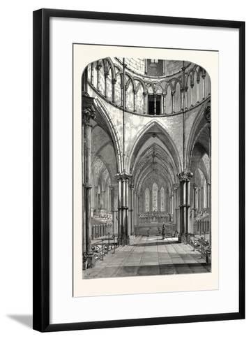 Interior of the Temple Church 1870 London--Framed Art Print