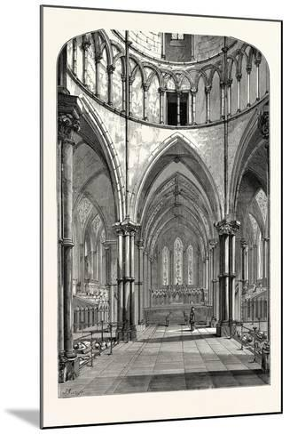 Interior of the Temple Church 1870 London--Mounted Giclee Print