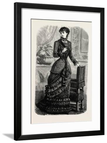 Demi-Evening Toilette, Fashion, 1882--Framed Art Print
