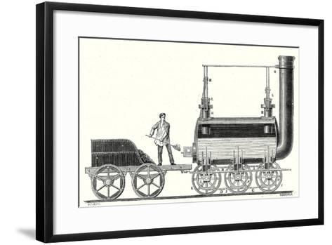 Stephenson's Endless Chain Locomotive--Framed Art Print