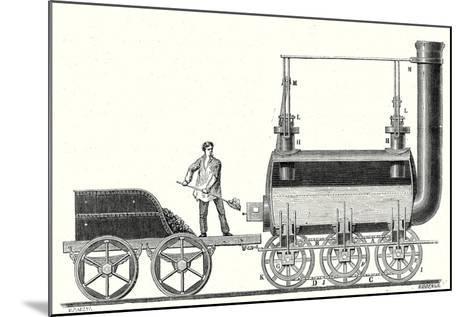 Stephenson's Endless Chain Locomotive--Mounted Giclee Print