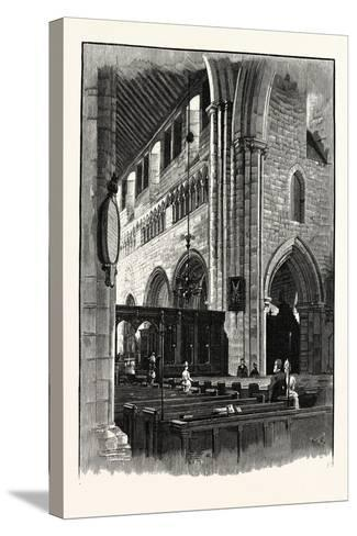 Cartmel Church, View across the Nave--Stretched Canvas Print