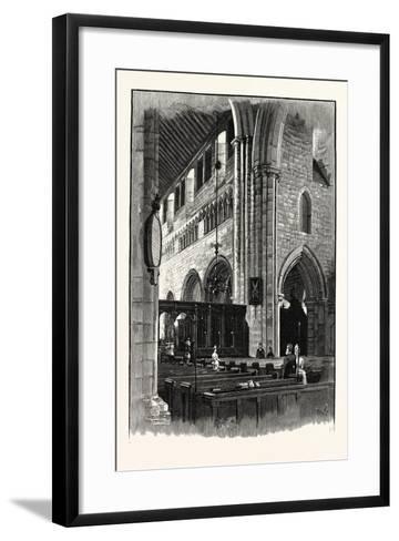 Cartmel Church, View across the Nave--Framed Art Print