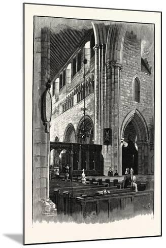 Cartmel Church, View across the Nave--Mounted Giclee Print