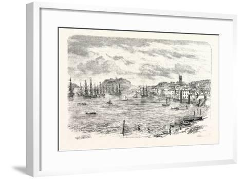 The Town and Harbour of Falmouth, UK--Framed Art Print
