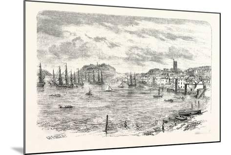 The Town and Harbour of Falmouth, UK--Mounted Giclee Print