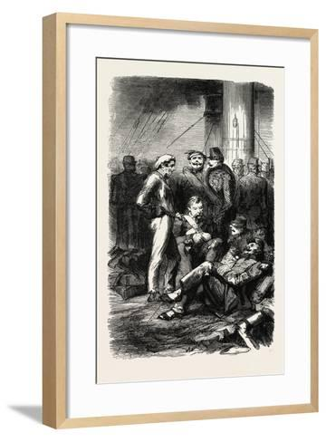Installation on the Vessel. 1855--Framed Art Print