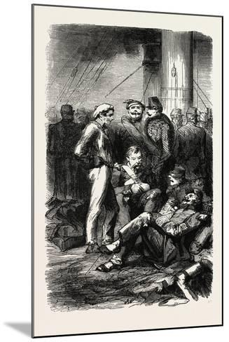 Installation on the Vessel. 1855--Mounted Giclee Print
