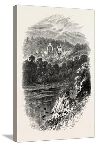 Dryburgh Abbey, Uk, 19th Century--Stretched Canvas Print