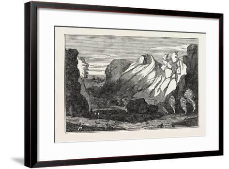The Crater on the Peak of Teneriffe--Framed Art Print