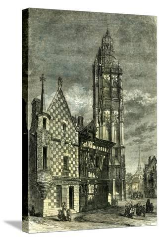 Church of Verneuil France 1848--Stretched Canvas Print