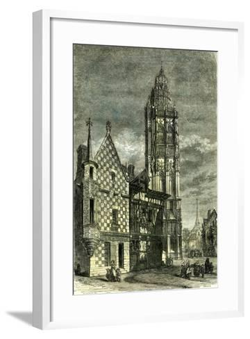 Church of Verneuil France 1848--Framed Art Print