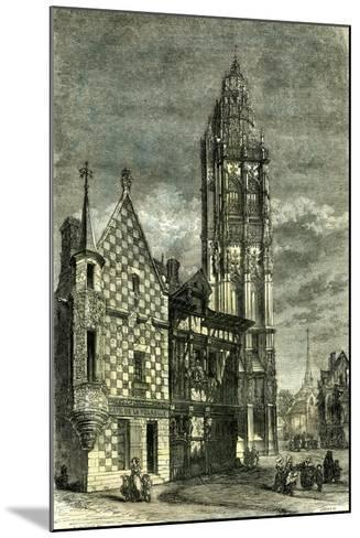 Church of Verneuil France 1848--Mounted Giclee Print