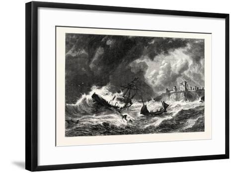 The Sea Off Tantallon, Scotland, UK--Framed Art Print