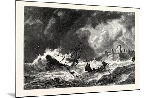 The Sea Off Tantallon, Scotland, UK--Mounted Giclee Print