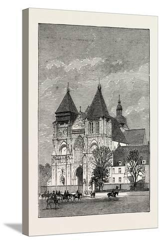 Church at Le Mans, France, 1871--Stretched Canvas Print
