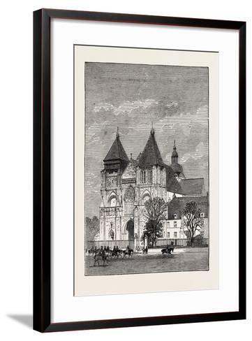 Church at Le Mans, France, 1871--Framed Art Print