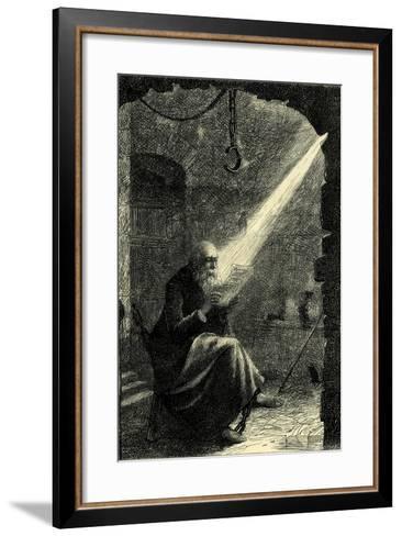 Juhn Hus in Prison Switzerland--Framed Art Print