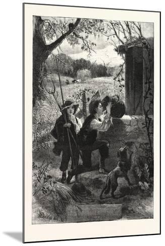 The Old Oaken Bucket, 1876, UK--Mounted Giclee Print