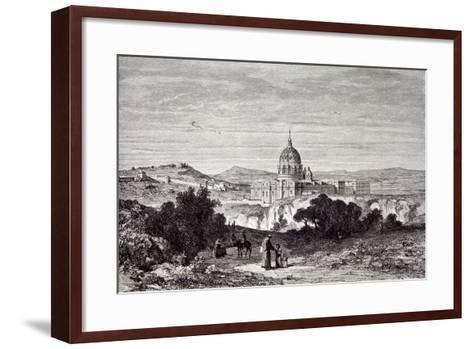 View of St. Peter's and the Vatican--Framed Art Print
