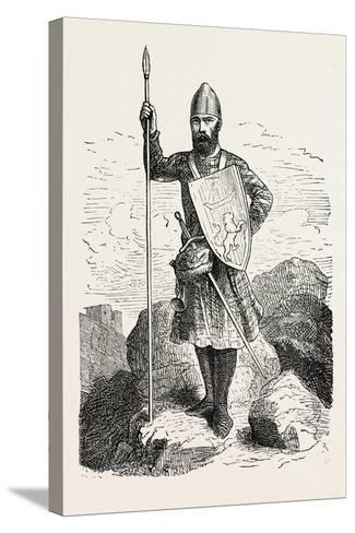 Scottish Soldier 12th Century--Stretched Canvas Print