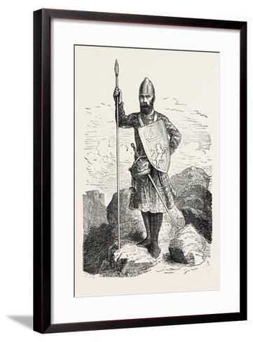 Scottish Soldier 12th Century--Framed Art Print