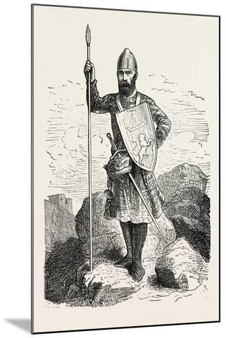 Scottish Soldier 12th Century--Mounted Giclee Print