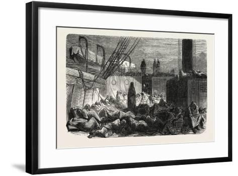 The Night on the Vessel, 1855--Framed Art Print