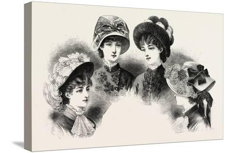 1882 Fashionable Hats, Fashion--Stretched Canvas Print
