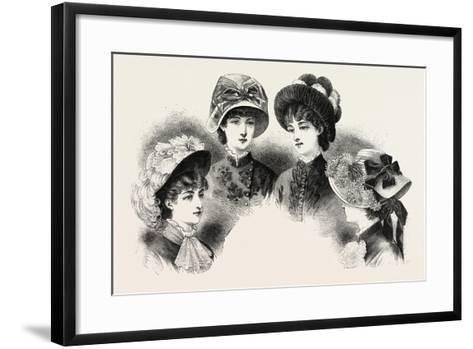 1882 Fashionable Hats, Fashion--Framed Art Print
