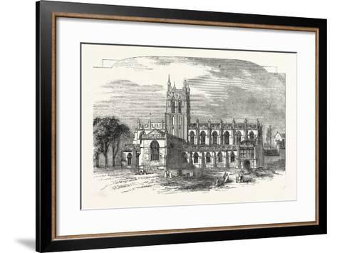 The Church of Great Malvern, UK--Framed Art Print