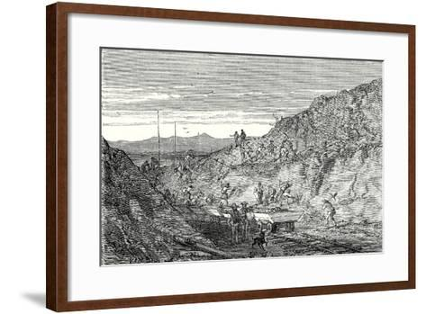 The Creation of a Deep Trench--Framed Art Print
