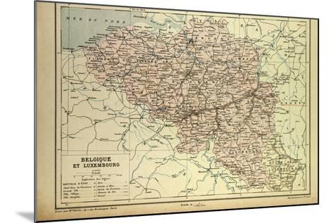 Map of Belgium and Luxemburg--Mounted Giclee Print