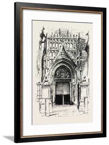 Door of Seville Cathedral, Spain--Framed Art Print