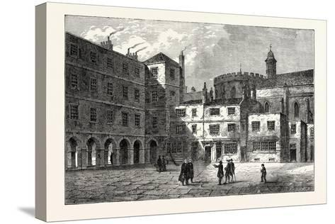 Part of Inner Temple 1800 London--Stretched Canvas Print