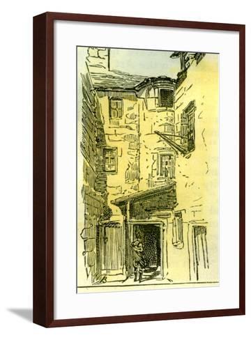 Aberdeen in the Ship Row 1885, UK--Framed Art Print